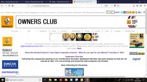 Old Renault Owners' Club Web